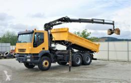 Camion plateau Iveco TRAKKER 380 Kipper 4,50m+Kran/FUNK*6x4*Topzustan