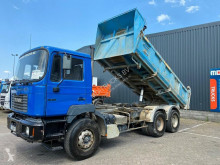 Used tipper truck MAN 27 314 manual full steel meiller bi-benne