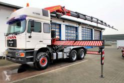 Used exceptional transport tractor unit MAN 26.414 26.414 DFLT 6x4 SZM + Kran PK 54.000 Palfinger