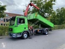 MAN tipper truck MAN TGL 12.180 3Seiten Kipper + KRAN FASSI F80A.