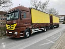 Vrachtwagen met aanhanger Mercedes Actros 1844 MegaSpace Retarder Komplettzug/LBW tweedehands met huifzeil