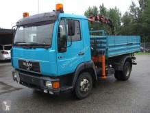 Camion benă trilaterala second-hand MAN 8113 FK / KRAN