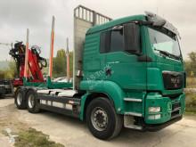 Camión maderero MAN TGS 26.480 6x4 Kran Epsilon Schaltung Retarder