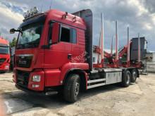 Camión maderero MAN TGS 26.480 6x4H-2 BL Kran mit Kabine