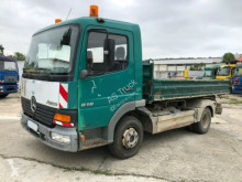 Used three-way side tipper truck Mercedes 818 Atego Kipper Meiler AHK