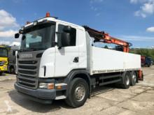 Камион платформа Scania 440 Baustoff Atlas Kran 170-2V-A12 Zange