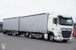 Камион подвижни завеси DAF - 106 / 480 / ACC / EURO 6 / ZESTAW PRZEJAZDOWY + remorque