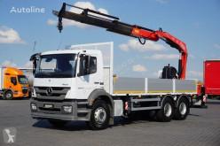 Camión caja abierta MERCEDES-BENZ AXOR / 2633 / E 5 / SKRZYNIOWY + HDS / MANUAL