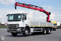 Hiab MERCEDES-BENZ - ACTROS / 2536 / SKRZYNIOWY + HDS / MANUAL truck used flatbed