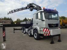 Camion MAN TGS 41.480 Pritsche+MKG 671 9xAusschube Frontstz platformă si obloane second-hand