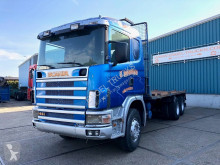 Camion Scania 144-460C FULL STEEL WITH OPEN BOX (12 GEARS MANUAL GEARBOX / FULL STEEL SUSPENSION / AIRCONDITIONING) plateau occasion
