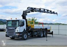 Camion platformă Scania P380 Pritsche 6,10m +Kran/FUNK *6x2*Topzustand!