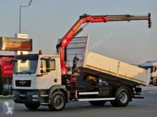 Camion plateau occasion MAN TGM 18.330 / 4X2/ TIPPER + CRANE PALFINGER PK12