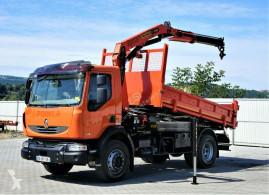 Renault plató teherautó MIDLUM 240DXI Kipper 4,20m+Kran*4x2*Topzustand!