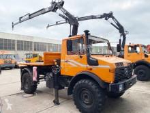 Camion Unimog U 1300 L 4x4 U 1300 L 4x4 mit Kran MKG HLK 80 plateau occasion