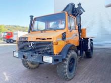 Used flatbed truck Unimog U 1300 L 4x4 U 1300 L 4x4 mit Kran MKG HLK 80