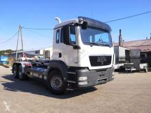 Camion polybenne occasion MAN TGS 26.440 6x4 hakowiec hook lift Meiller nowe opony