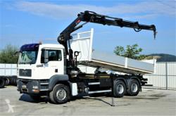 Camion platformă MAN TGS 26.360 Kipper 6,10m + Kran/FUNK *6x4
