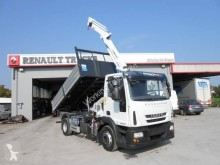 Used three-way side tipper truck Iveco Eurocargo ML 140 E 22