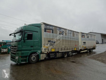 Mercedes tarp trailer truck Actros Actros 2544 BDF Komplettzug Jumbo