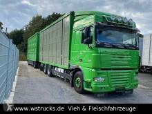 Camión remolque ganadero DAF XF105 XF 105/460 SC Menke 3 Stock Hubdach