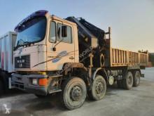 Camion platformă si obloane MAN 41.372 Crane Palfinger PK66000