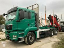 MAN timber truck TGS 26.480 6x4 Kran Epsilon Schaltung Retarder
