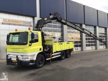 Camión DAF FAN 75 HMF 28 ton/meter laadkraan caja abierta usado