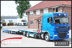 Lastbil med släp biltransport DAF XF 410 LKW Tieflader Transporter + FVG Anhänger