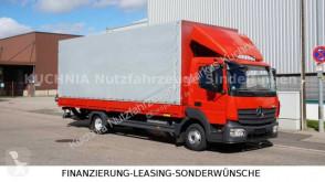 Camião Mercedes Atego 818L Pritsche 7,22m LBW Klima Euro-6 caixa aberta com lona usado