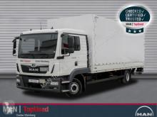 Camião caixa aberta com lona MAN TGL 12.250 4X2 BL AHK, Zusatzheizung, Klimaautomat