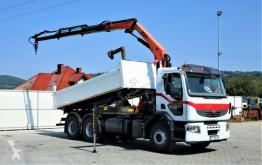 Camion benne Renault PREMIUM 370 DXI Kipper 5,00m+Kran*6X4!