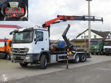 Camion Mercedes Actros 2541 L6x2 Abrollkipper mit Kran Funk+3xhyd polybenne occasion