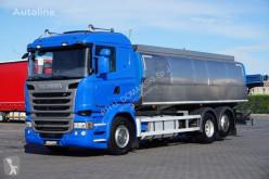 Ciężarówka Scania R - 410 / E 6 / 6 X 2 / AUTOCYSTENA DO MLEKA 22500 cysterna do przewozu produktów żywnościowych używana