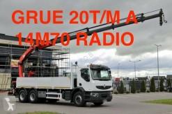 Camion plateau ridelles Renault Premium Lander 380 DXI