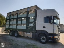 Scania R 500 truck used livestock trailer