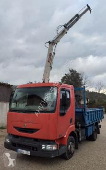 Camion Renault 220 4x2 VOLQUETE + GRUA PM 4622 plateau occasion