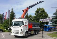 Camion Scania R 480 PALFINGER PK 40002 G WINCH EURO 5 TRIDEM plateau ridelles occasion