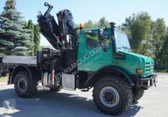 Camión caja abierta Unimog 4x4 HIAB 166 E4 HIPRO OFF ROAD Kran CRAN