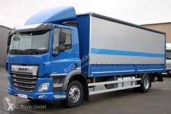 DAF tarp trailer truck DAF CF 320 Durchlade-Pritschenzug LBW ACC LDW