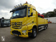 Camion plateau ridelles Mercedes Actros 2548 Baustoffpritsche FASSI 195 2x hydr Hochsitz