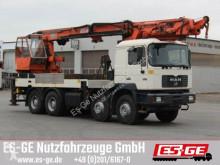 Camión caja abierta Atlas MAN 4-Achs-LKW 35-414 mit Ladekran 600.1