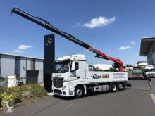 Camion plateau Mercedes Actros 2745 L 6x2 Baustoffpritsche + Kran