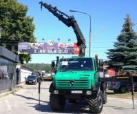 Camião Unimog 4x4 HIAB 166 E4 HIPRO OFF ROAD Kran CRAN estrado / caixa aberta usado
