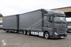 Kamión valník s bočnicami a plachtou Mercedes Actros 2545 L Jumbozug Stapleraufnahme Retarder
