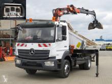 Camion benne Mercedes Atego 1630 K 2-Achs Kipper Kran Atlas 85.2 mit Funk