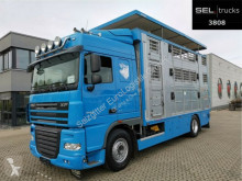 Camion van à chevaux DAF XF 105.460 FA /3 Stock /Hydr. Laderampe /Hubdach