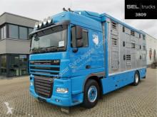 Kamión DAF XF105 XF 105.460 FA /3 Stock /Hydr. Laderampe /Hubdach príves na prepravu zvierat ojazdený