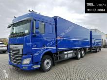 Camión remolque DAF XF460 XF 460 FAR /Ladebordwand /Retarder /mit Anhänger furgón transporte de bebidas usado