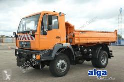 Camión volquete volquete trilateral MAN 14.220 LAK 4x4, Allrad, Schild, Streuer, AHK